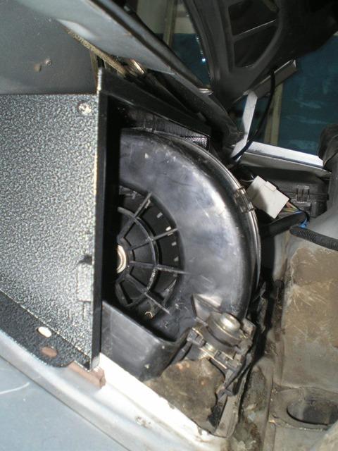 Установка задней части адаптора на автомобиль