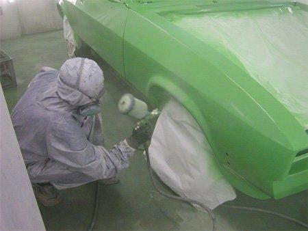 Покраска авто в гараже