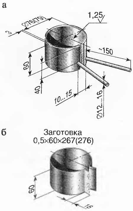 Чертеж обжимки поршневых колец ВАЗ
