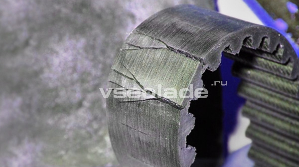 Проверка состояния ремня ГРМ и натяжного ролика Лада Калина