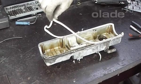 Замена прокладки клапанной крышки Лады
