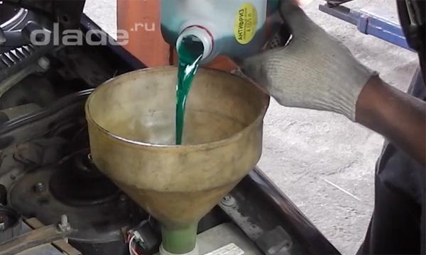 Замена охлаждающей жидкости на Ладе