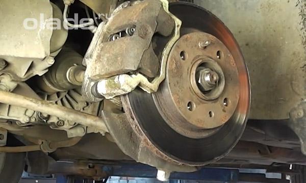 Замена передних тормозных дисков Лады