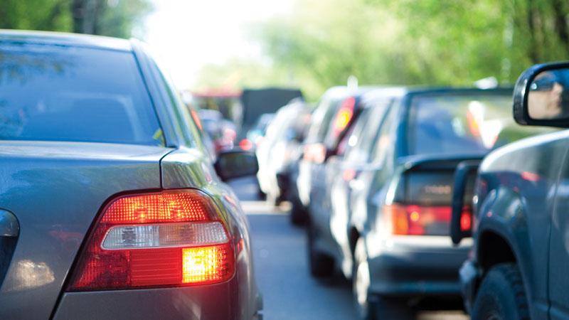 Пробки на дорогах, расход топлива