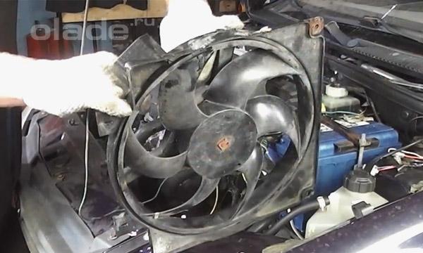 Диагностика вентилятора охлаждения двигателя Лады