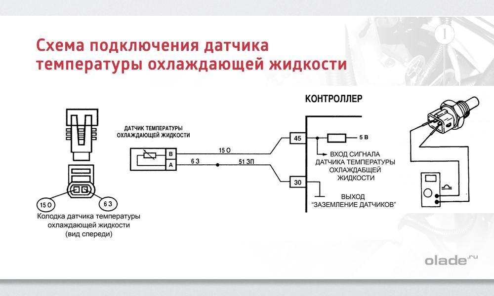Схема датчика давления и температуры