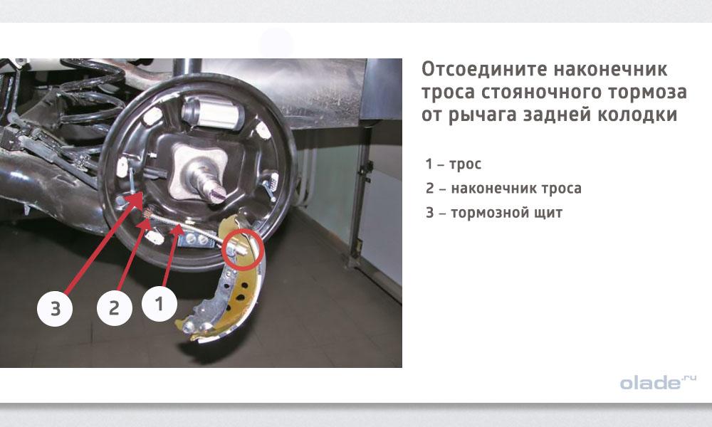 Замена задних тормозных колодок на Ладе Веста (фото 8)