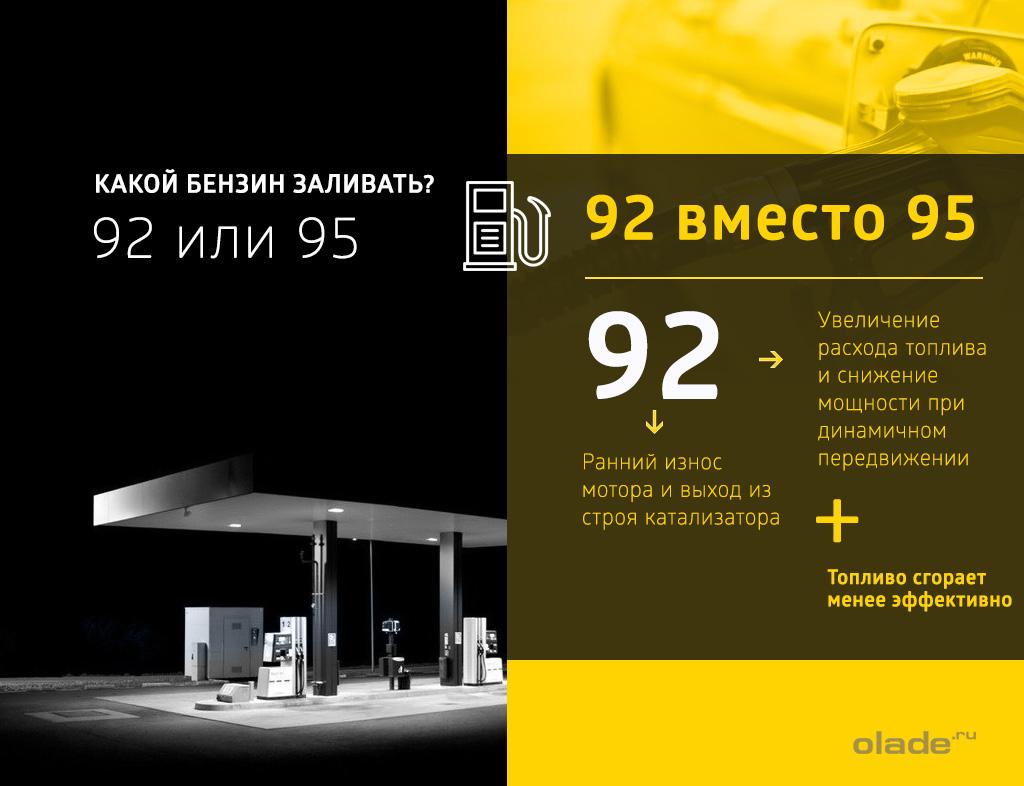 Что будет если залить 92 вместо 95 бензин