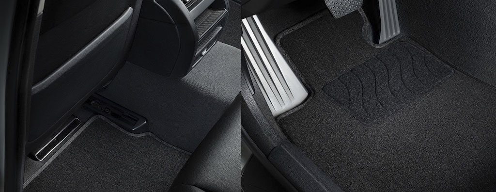 Салонные и багажные коврики для Lada Vesta, текстильные коврики