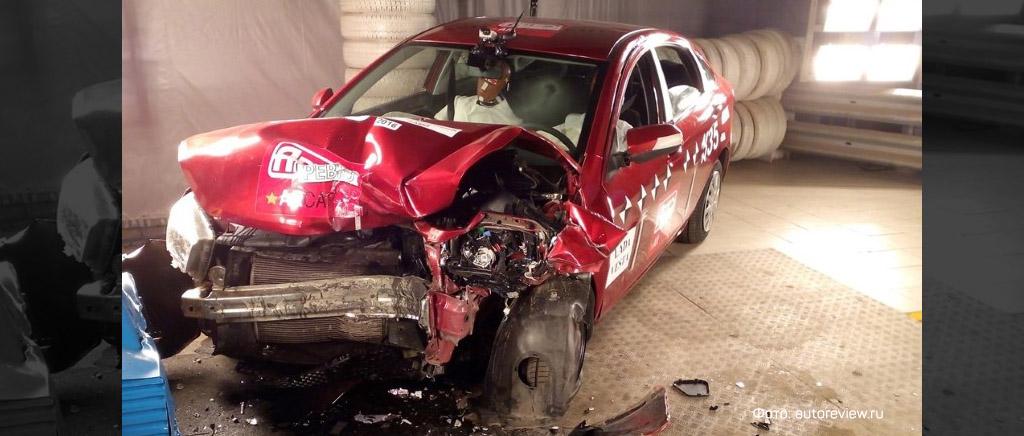 Тест на безопасность автомобиля «Лада Веста», краш-тест Лады Веста (фото 1)