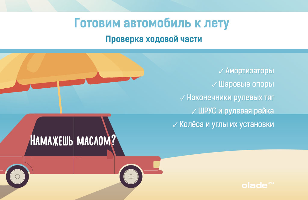 Подготовка автомобиля к летнему сезону, проверка ходовой части