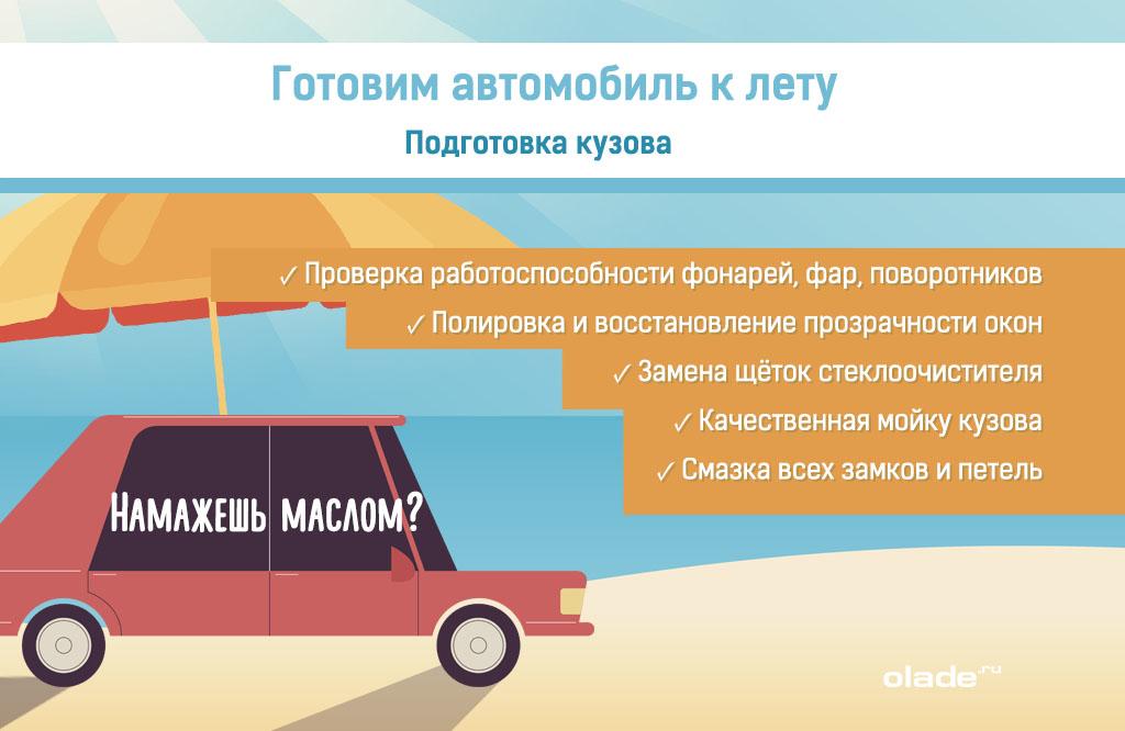 Подготовка автомобиля к летнему сезону, подготовка кузова