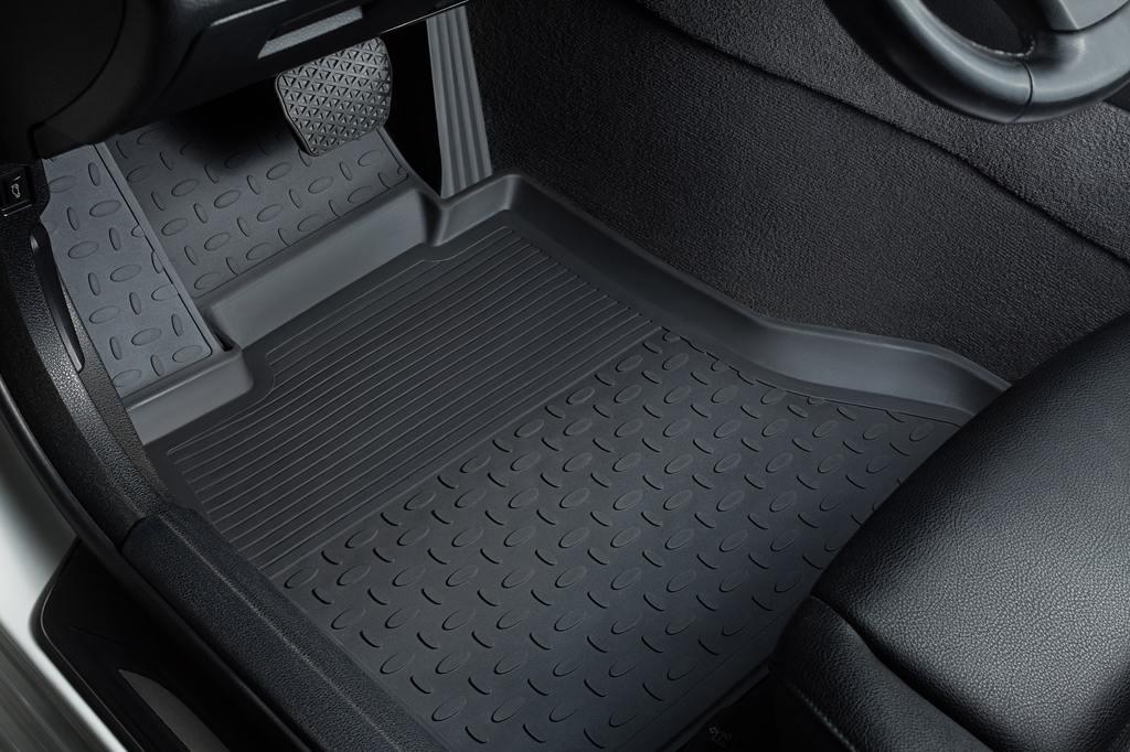 Салонные и багажные коврики для Lada Vesta, резиновый коврик с бортиками 30-50 мм