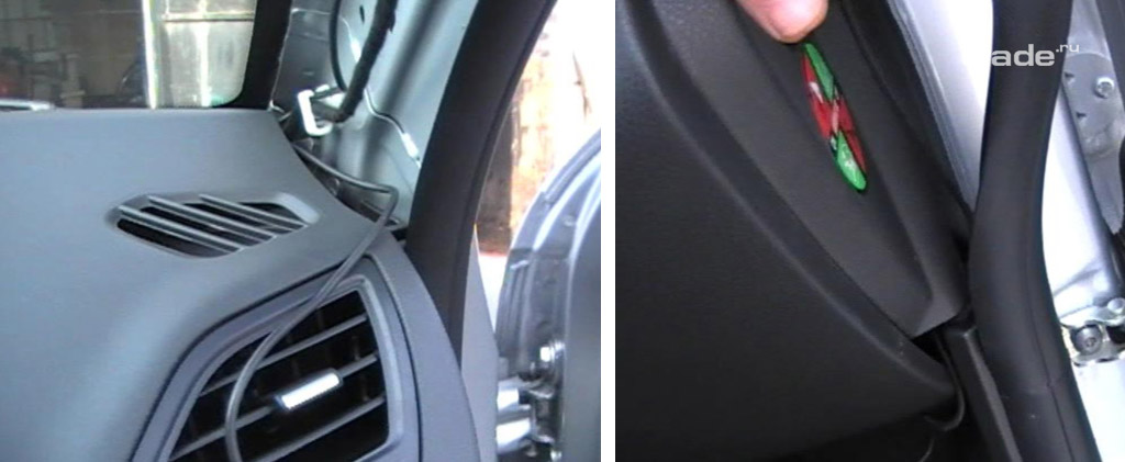 Установка регистратора в автомобиль Лада Веста (фото 13)