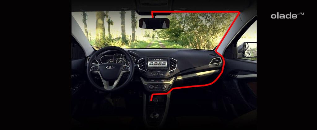 Установка регистратора в автомобиль Лада Веста (фото 7)