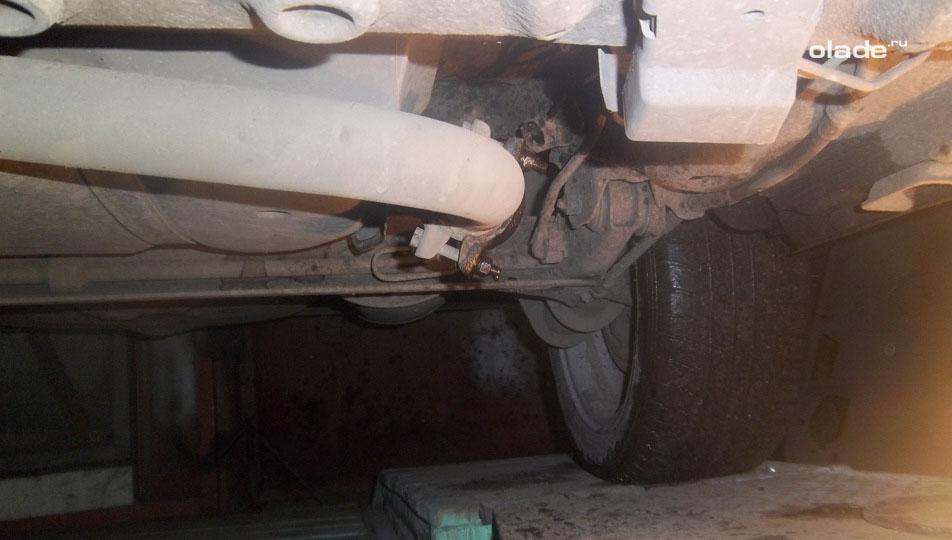 Замена гофры глушителя на Ладе Гранта (фото 2)