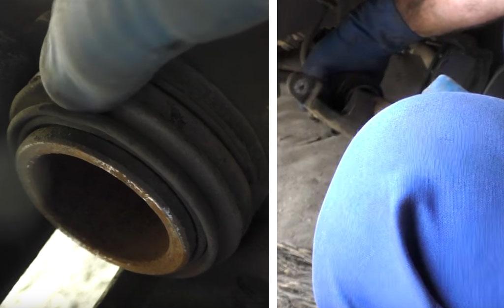 Замена тормозных дисков на Ладе Приора, надавите на тормозной цилиндр