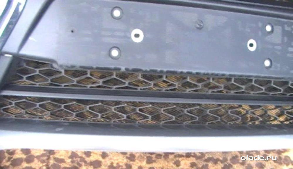 Установка дополнительной сетки на решетку радиатора Лады Веста (фото 24)