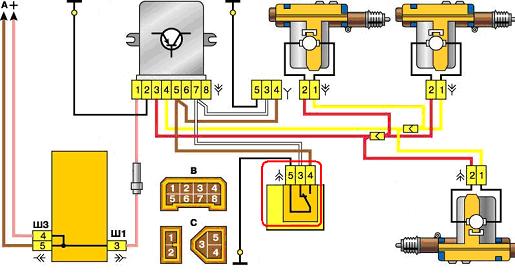 Схема центрального замка ВАЗ 2110